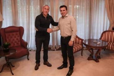 Verbrecher Duo, des CIA und von Georg Soros: Ramuz Haradinaj, Zoran Zaev, beide Gehirnlos