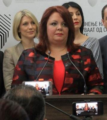 Katica Janeva, Ex-Sondergeneral Staatsanwältin in Mazedonien, welche willkürlich erpresste, fälschte mit ihrer Mannschaft